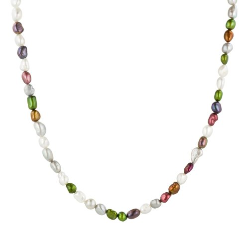 Multi-Color Free Form Freshwater Cultured Pearl Endless Necklace, 36