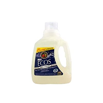 2 Packs of Earth Friendly Ecos Ultra 2x All Natural Laundry Detergent - Free And Clear - 100 Fl Oz