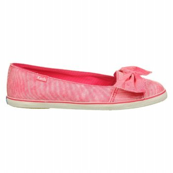 Keds Women's Capri Washed Stripe Fashion Sneaker,Pink,9 M US