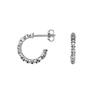 Hot Diamonds By the Shore Hoop Earrings