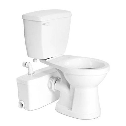 Saniflo SaniPLUS: Macerating Upflush Toilet Kit (with Standard Bowl)