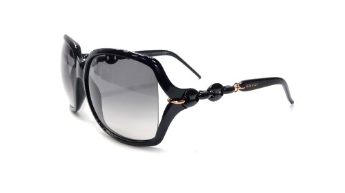 New Gucci 3584/S 3GT Shiny Black Frame/Gray Gradient Lens 59mm Sunglasses Reviews