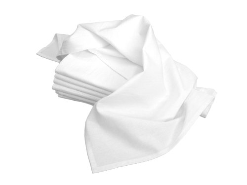Review Of Aunt Martha's 28-Inch by 28-Inch Flour Sack Dish Towels, Premium 130 Thread Count, White, ...