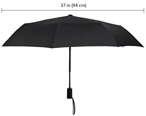 Plemo Premium Regenschirm, Automatik Taschenschirm Herren Schirm mit 94 cm Durchmesser schwarz -