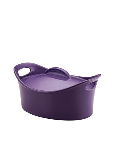 Rachael Ray 4.25-Qt. Covered Bubble & Brown Casseroval Casserole, Purple