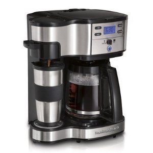 Hamilton Beach Two Way Brewer Single Serve and 12 cup Coffee Maker & FREE MINI TOOL BOX (ml)