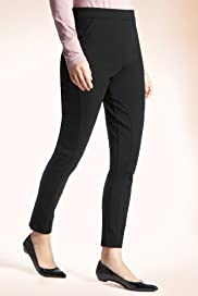 Secret Support Flat Front Panelled Plain Treggings [T57-3920-S]