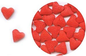 Confetti Red Hearts 2.8 oz. CONRH