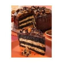 Alden Merrell Desserts 3 Layer Gourmet Turtle Chocolate Cake, 134 Ounce -- 2 per case.