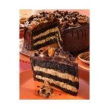 Alden Merrell Desserts 3 Layer Gourmet Turtle Chocolate Cake, 134 Ounce -- 2 per case.