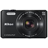 Nikon Coolpix S7000 16 MP Point and Shoot Camera (Black) with 20x Optical Zoom, 8GB Memory Card and Camera Case
