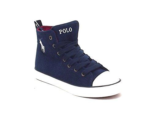 Polo Ralph Lauren scarpa bambino, falmuth, sneakers in camoscio, colore blu