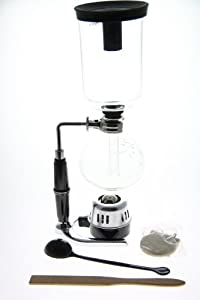 Classic 5 Cup Tabletop Siphon (Syphon) Coffee Maker (Alcohol Burner) by HERO
