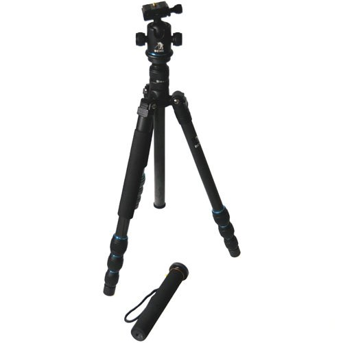 CowboyStudio BK-476 Trans-Functional Travel Angle Carbon Fiber Tripod with Monopod for DSLR Camera Nikon Canon Sony Olympus (Beike Carbon Fiber compare prices)