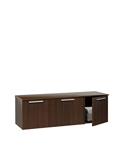 Prepac Coal Harbor Wall-Mounted Buffet, Espresso