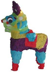 Fetch It Pets Polly Wanna Pinata Donkey 8 in Bird Toy