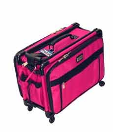 Hot Pink Medium Mascot Tutto Machine On Wheels Sewing Carrier Case by Tutto