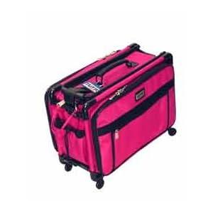 Hot Pink Medium Mascot Tutto Machine on Wheels Sewing Carrier Case