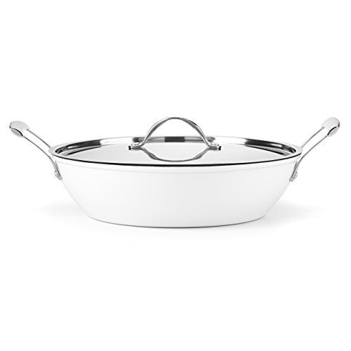 Food & Wine For Gorham Light Cast Iron 4 Quart Braiser, White by Food & Wine Collection for Gorham (Food And Wine Cast Iron compare prices)
