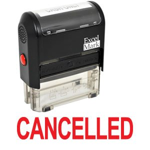 CANCELLED Self Inking Rubber Stamp - Red Ink (42A1539WEB-R)