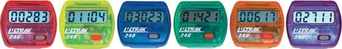 Cheap Colored Step Pedometers – Set of 6 (1 ea. Color) (TL236P)
