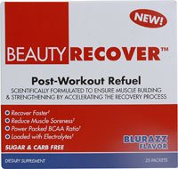 BeautyFit Beauty Recover Post-Workout Refuel BluRazz -- 25 Packets