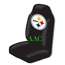 Set of 2 NFL Licensed Universal-fit Front Bucket Seat Cover - Pittsburgh Steelers