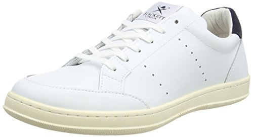 Hackett London Badminton Sports Cupsl, Pantofole Uomo, 800WHITE (800WHITE), 44