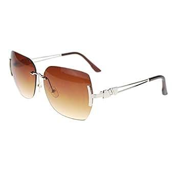 Rimless Butterfly Glasses : Amazon.com: Luxury Diva Fashion Rimless Rectangular ...