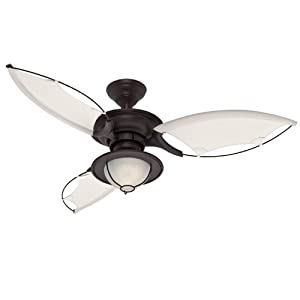Hunter 25522 54-Inch Sanibel Ceiling Fan, New Bronze
