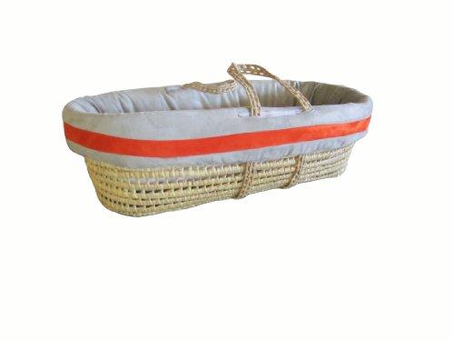 Imagen de Baby Doll Bedding Set Zuma Moisés Basket, Gris / calabaza