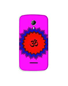 Micromax A117 nkt-04 (91) Mobile Case by Mott2 - Rangoli Om (Limited Time Offers,Please Check the Details Below)