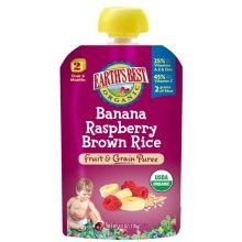 Earth'S Best Baby Foods Baby Puree Bnna Rspbry Br 4.2 Oz (Pack Of 12) front-484619