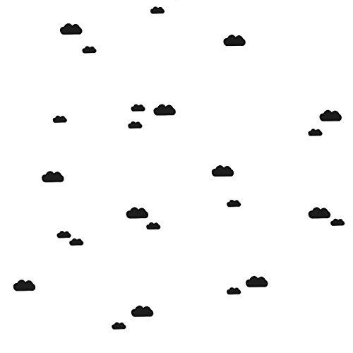 Ferm Living Mini Wandsticker Wolken 27 Stk., schwarz