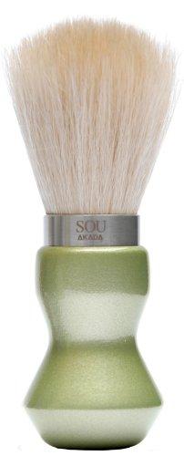 SOU AKADA シルクホイップブラシ シェービングサイズ パール塗装 グリーン 100429