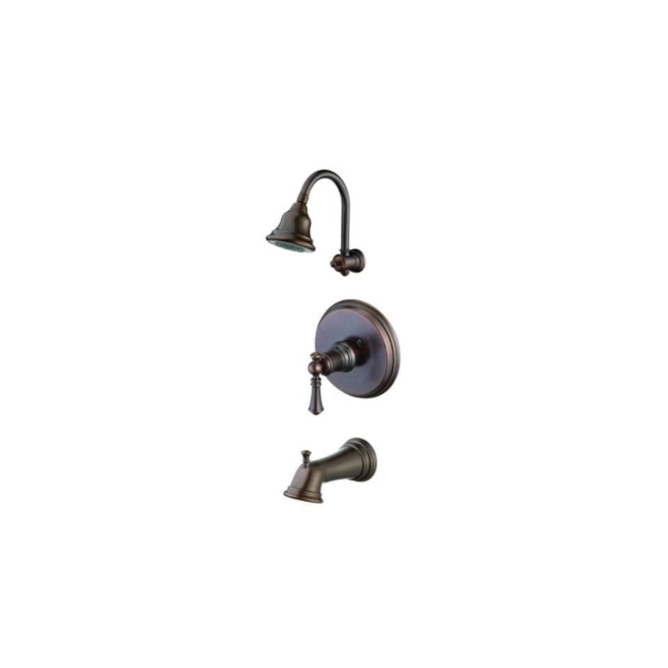 Pegasus 873 7096H Estates Series Pressure Balance Single Handle Tub/Shower Faucet, Heritage Bronze
