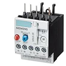 Siemens 3RU11 16-0AB0 Thermal Overload Relay, For Mounting Onto Contactor, Size S00, 0.11-0.16A Setting Range