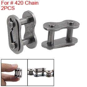 2 Pcs 420 Chain Master Link 50Cc 90Cc Pit Bike Connector front-499791