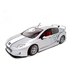 diecast collectible car of 407 Peugeot Silhouette 1:18 Diecast Model