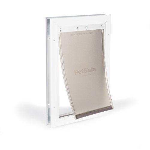 PetSafe Freedom Aluminum Pet Door, White, Medium