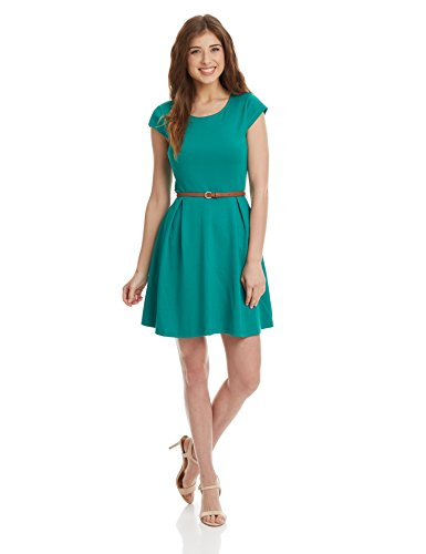 United Colors Of Benetton Women's A-Line Dress (16P3PN1V903AI_GreenW20_Medium)