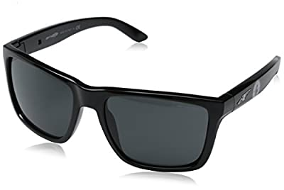 Arnette Men's Witch Doctor AN4177-225887-59 Black Square Sunglasses