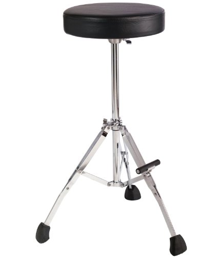 "Gibraltar GGS10T Tall 27"" Stool with Round Seat, Fold Up Tripod with Foot Rest"