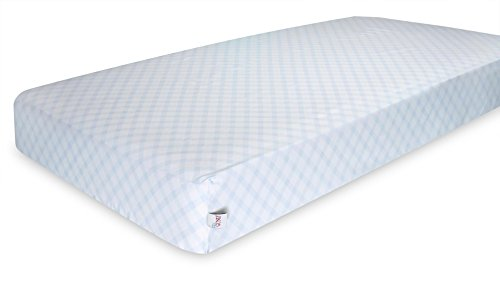 GUND Babygund Picnic Plaid Deluxe 300 Thread Count Crib Sheet, Picnic Plaid - Peek A Blue, 28'' By 52'' - 1