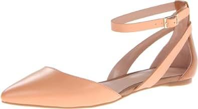 Enzo Angiolini Women's Christaz Ballet Flat,Light Pink/Dark Natural,7 M US