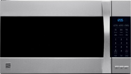 1.8 Cu Ft, 1050 Watts Kenmore 80373 Elite convection Stainless Steel Microhood Combinations Over-the-Range Microwave