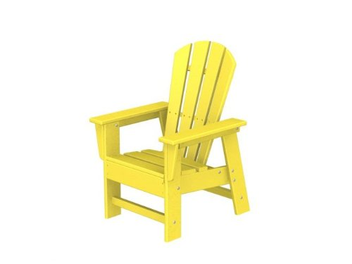Recycled Venice Beach Outdoor Patio Kid's Adirondack Chair - Sunshine Yellow