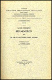 Iacobi Edesseni Hexaemeron seu in opus creationis libri septem. Syr. 48. = Syr. II, 56 (Corpus Scriptorum Christianorum Orientalium)