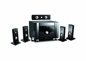 Bluetooth 400W RMS 5.1 Channel Wireless Home Theater Audio System Five Satellite Speakers with AM/FM Tuner CD DVD & MP3 Player Mobile Phones Compatible (Ricco® RTS6809)