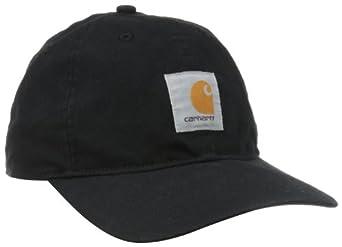 Carhartt Men's Signature Canvas Workflex Cap, Black, Large